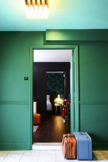 soothing green paint choice for hallways and doors