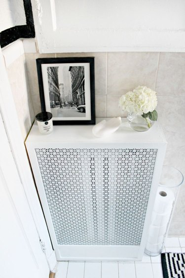 completed radiator cover