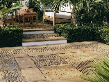 natural stone tiles hardscape patio materials