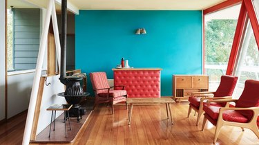 red and teal home