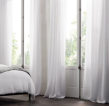 Sheer white curtains