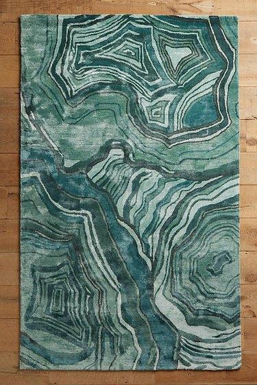 Anthropologie malachite rug.