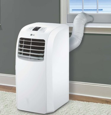 LG-brand portable room air conditioner.
