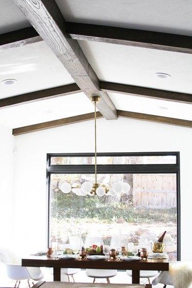 faux wood ceiling beams