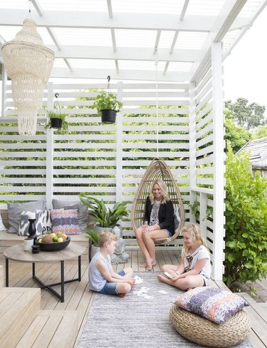 backyard covered patio open roof