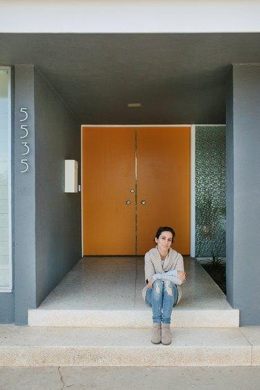 exterior orange door