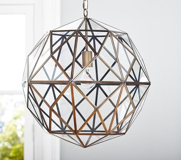 Geometric globe pendant light