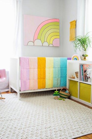 pastel rainbow nursery