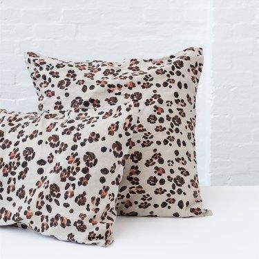 Pair of leapoard print pillows