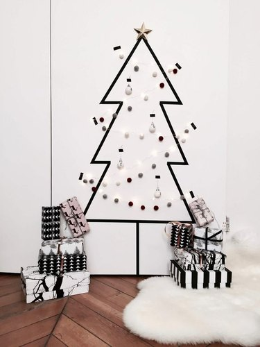 christmas tree alternative washi tape tree