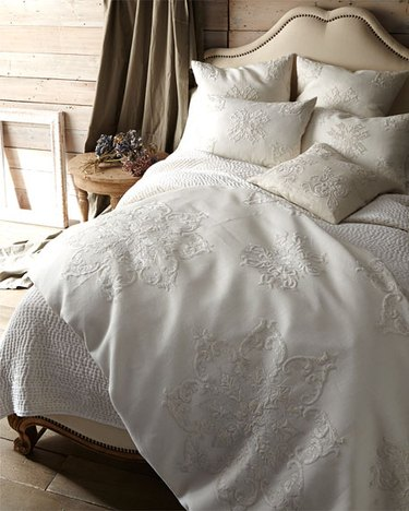 embroidered bedding