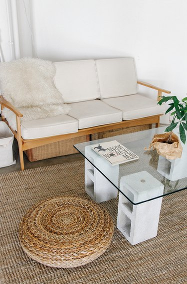 cinderblock coffee table