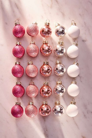 pink mini ornaments