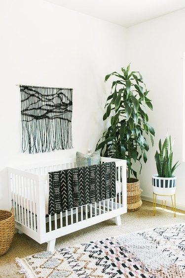 textured linens nursery