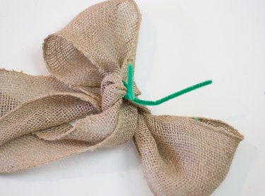 Ribbon tied with chenille