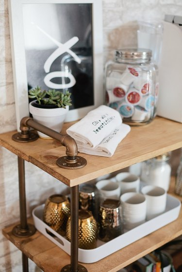 DIY Coffee Bar Cart