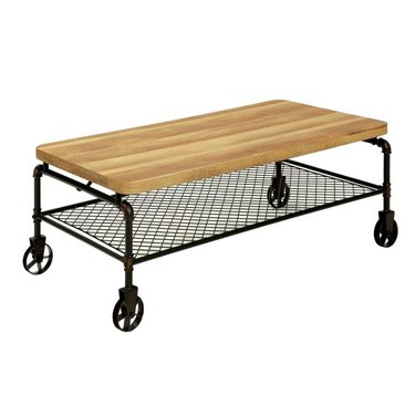Hayneedle Eddison industrial coffee table.