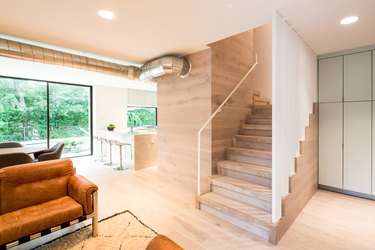 stairs living room
