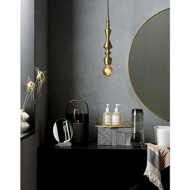 brilliant bathroom light fixture ideas CB2 candlestick pendant lights