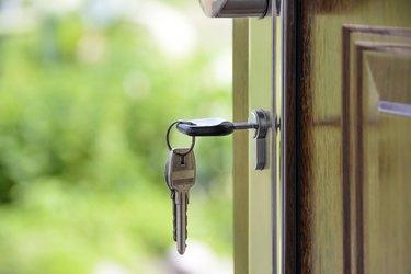 keys in an open door