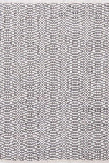 Fair Isle Grey Cotton Woven Rug