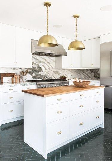 rose gold kitchen brass pendant lights