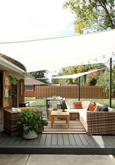 Sail shade patio cover