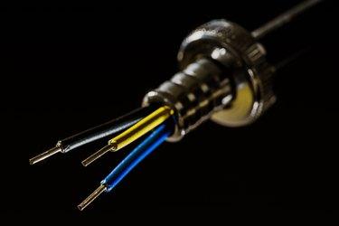 exposed split wiring