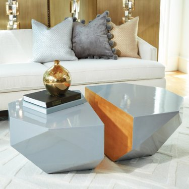 faceted coffee table