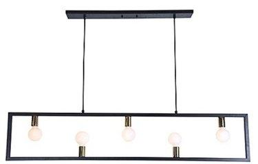 Modern bare bulb light fixture