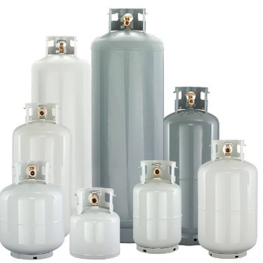 Selection of propane tanks.