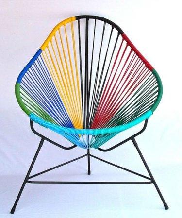 falabella multicolored acapulco chair white background