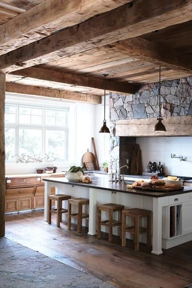 cabin wood beam ceiling