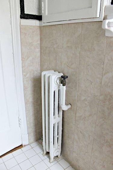 radiator before