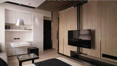 small space decorating studio apartment cohesive color scheme