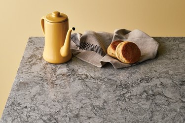 Distinctive gray quartz countertop