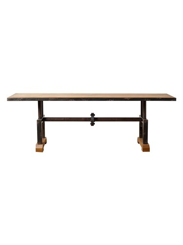 Gilt Bixel Industrial coffee table.