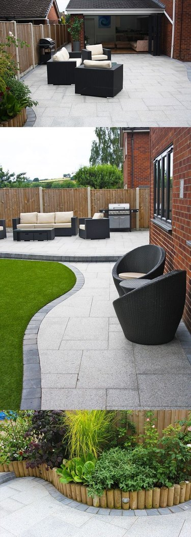 stone pavers hardscape materials paver curved stone patio