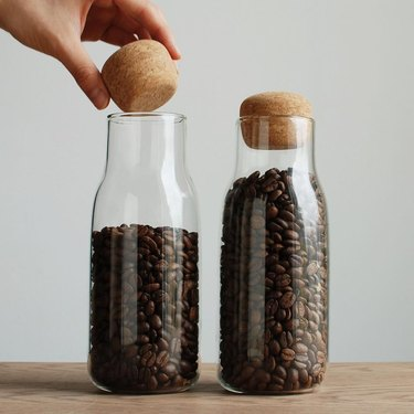 airtight bottle with cork