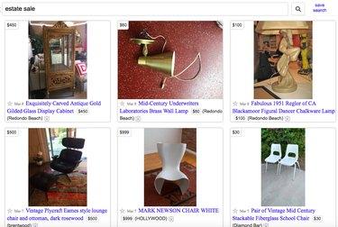 search estate sale on Craigslist