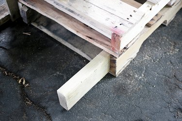 Pallets with 2 x 4.