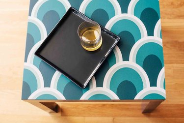 Peel and Stick Wallpaper Table Makeover