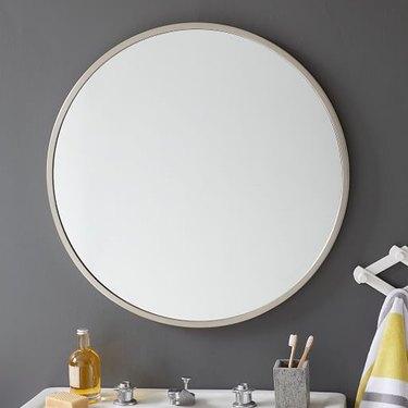 round bathroom mirror West Elm
