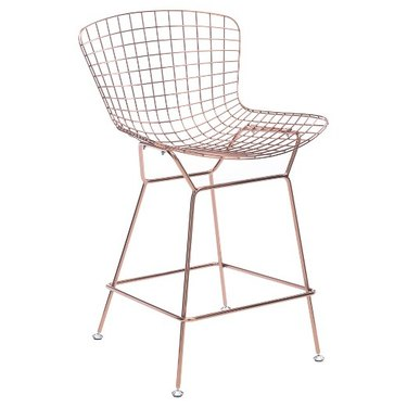 Rose Gold Wire Bar Stool