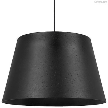Black lamp shade pendant light