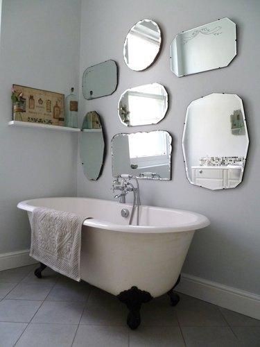 vintage mirror bathroom wall gallery