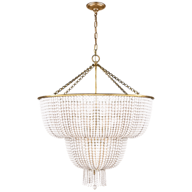 Crystal chandelier with gold metal