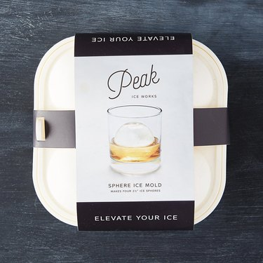 sphere mold ice cube tray