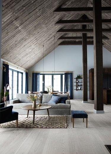 sophisticated wood beams