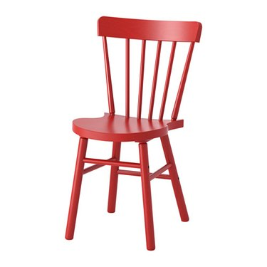 red dining chair